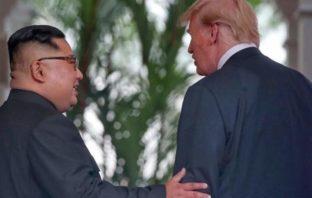 Лидеры КНДР и США встретились на острове Сентос