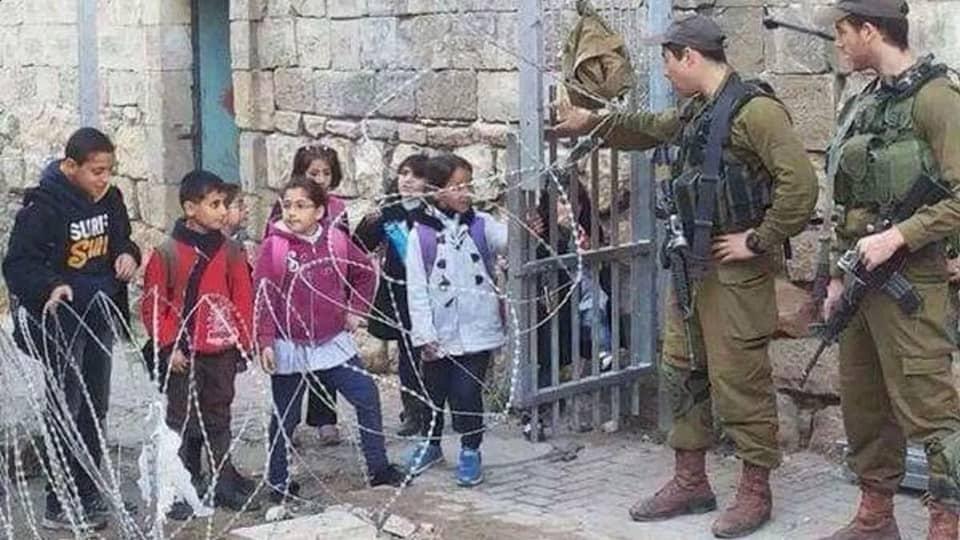 Израильские солдаты в Палестине