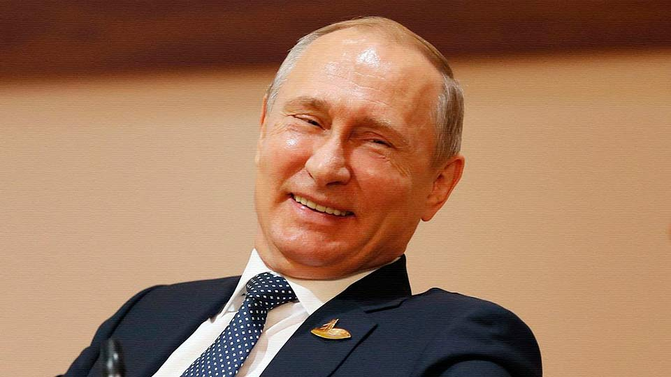 Смеющийся Путин