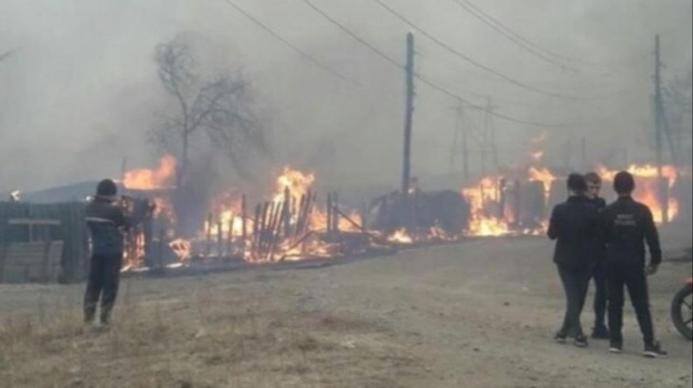 Пожар в Забайкалье