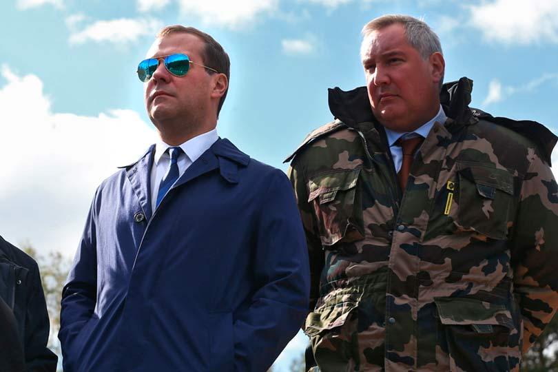 Рогозин и Медведев