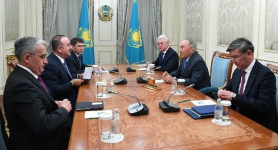Назарбаев и Чавушоглу