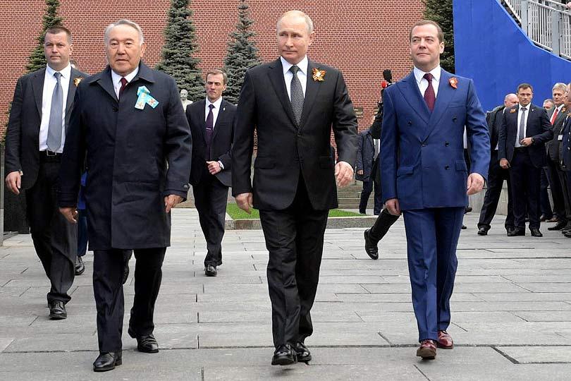 Назарбаев, Путин и Медведев