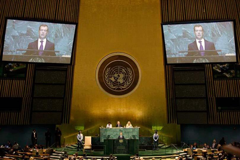 Медведев в ООН
