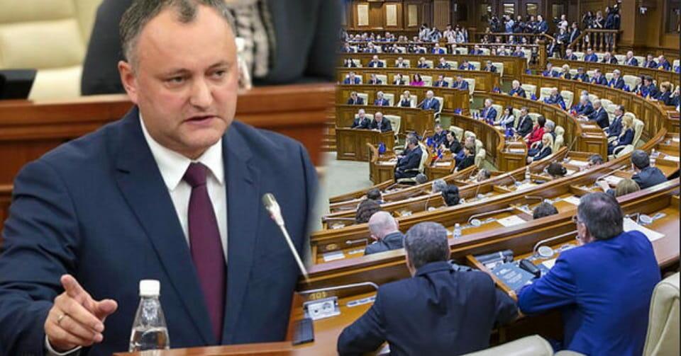 Додон и парламент Молдавии