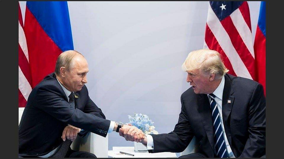 Путин и Трамп 28 июня