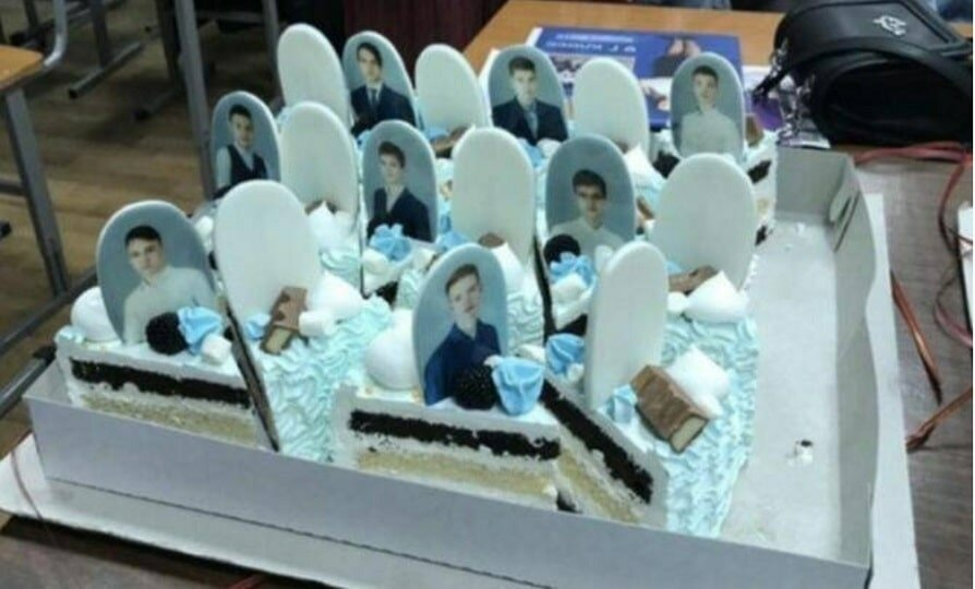 Торт с надгробиями