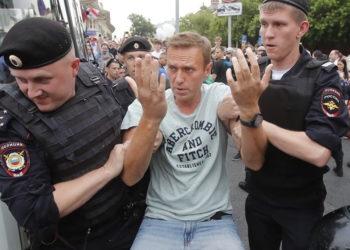 Задержание участника несанкционированного митинга