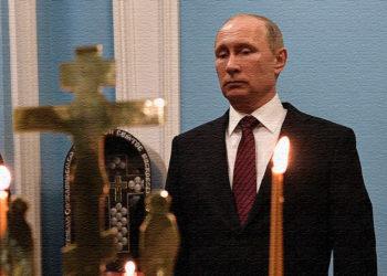 Путин в церкви