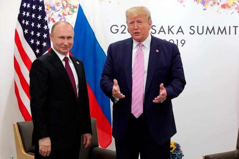 Путин и Трамп на G20 - 2019