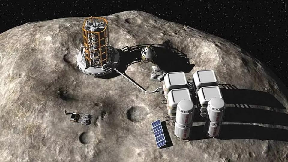 Добыча ископаемых на астероиде
