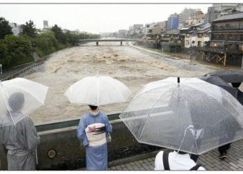 Ливни в Японии