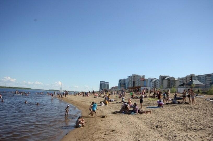 Пляж Якутска