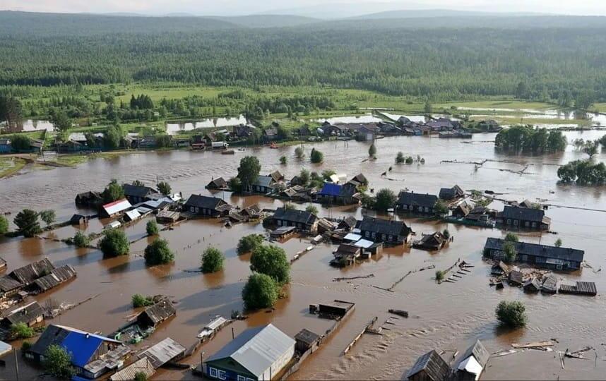 Подтопленные населенные пункты Иркутской области