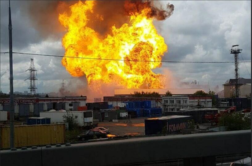 Пожар Северная ТЭЦ