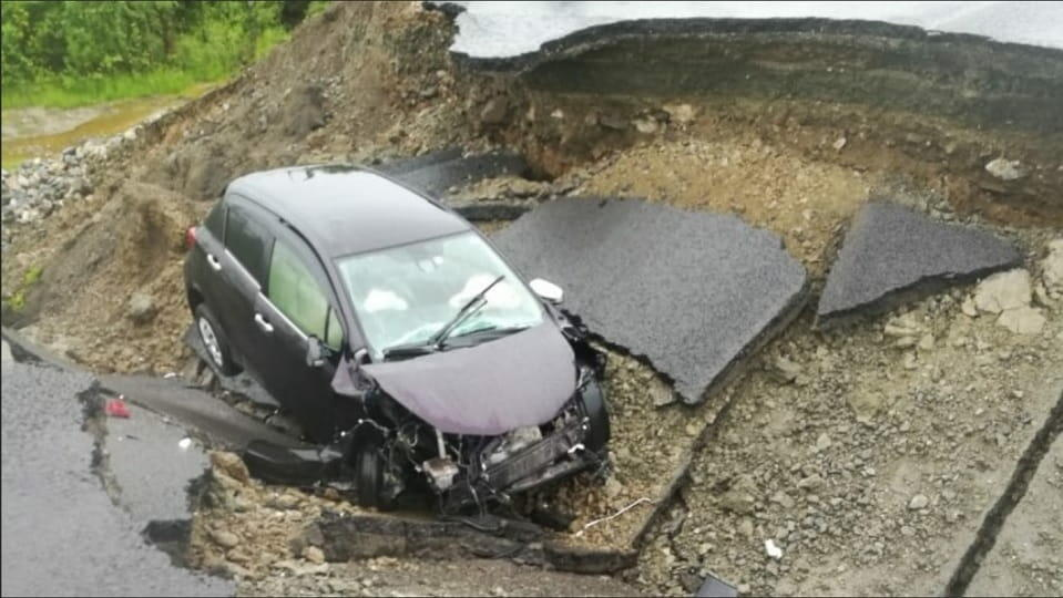 Провал на федеральной трассе