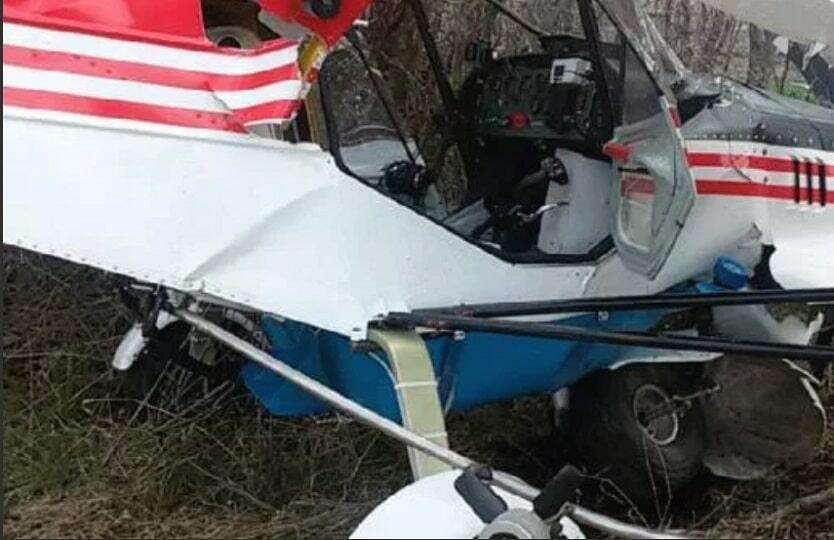 Упал легкомоторный самолет