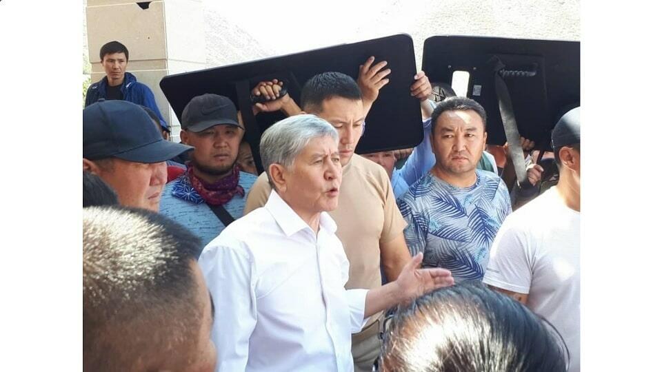 Атамбаев перед задержанием