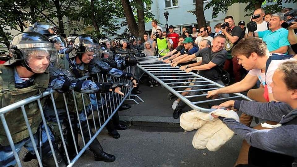 Незаконная акция в Москве