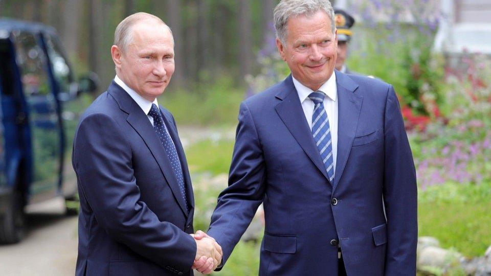 Путин и президент Финляндии Саули Ниинистё