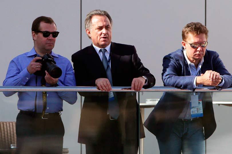 Медведев, Мутко и Миллер