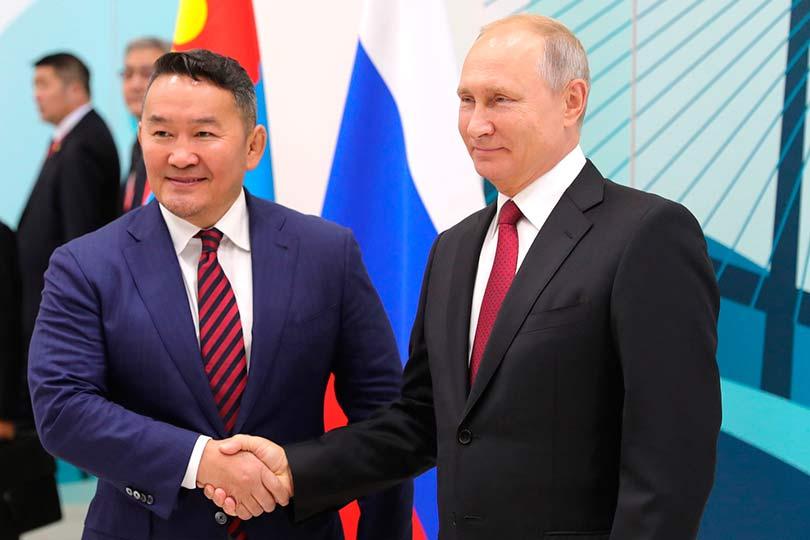 Владимир Путин и Халтмаагийн Баттулга