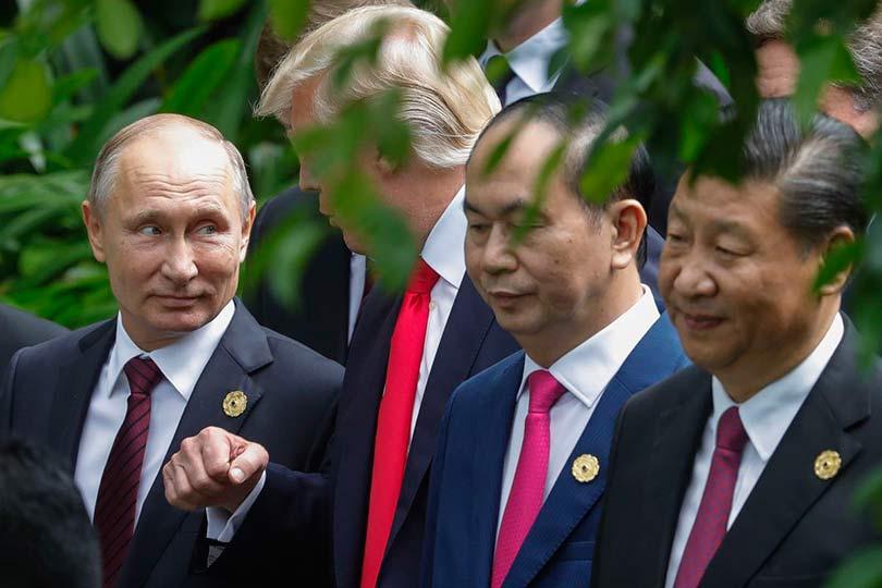 Путин, Трамп и Си Цзиньпин