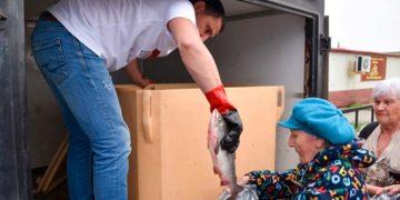 Раздача бесплатной рыбы