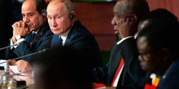 Путин с африканцами