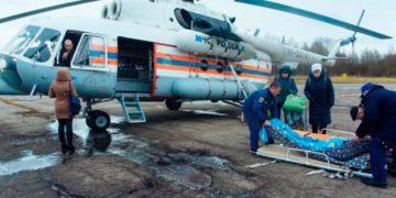Перевозка больных на вертолете