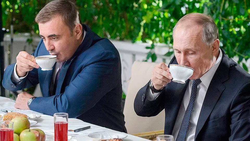 Дюмин и Путин пьют чай