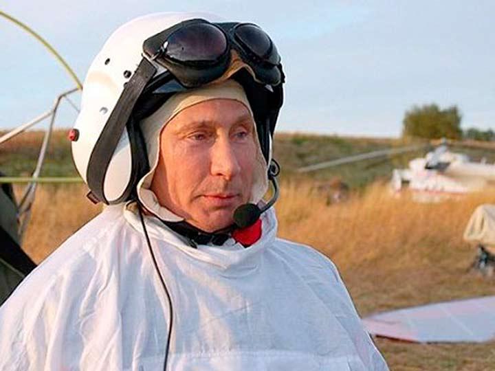 Полет Путина со стерхами