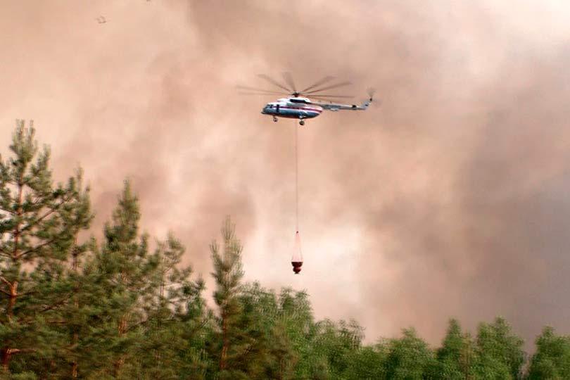 Пожар в горах Сочи