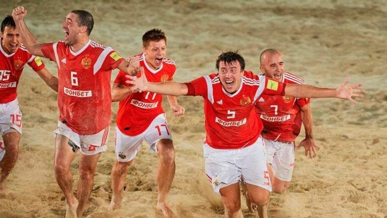 На Чемпионате мира по пляжному футболу Россия заняла третье место