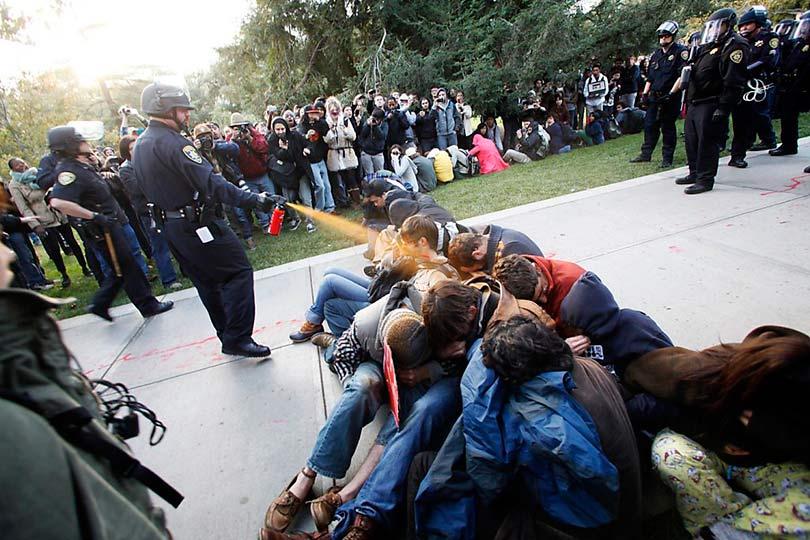 Наказание демонстрантов
