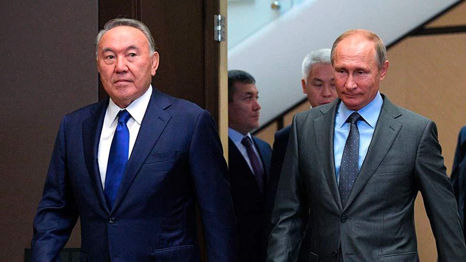 Назарбаев с Путиным