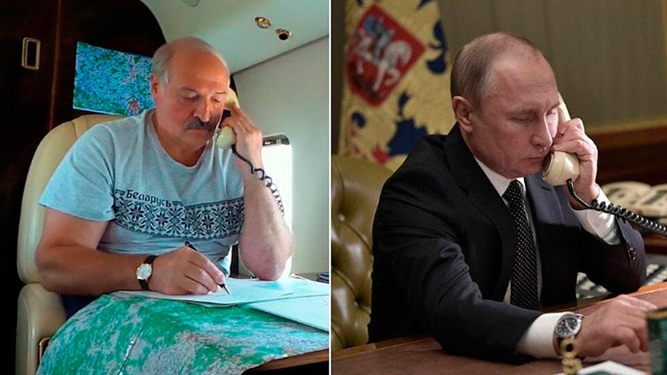 Лукашенко и Путин по телефону