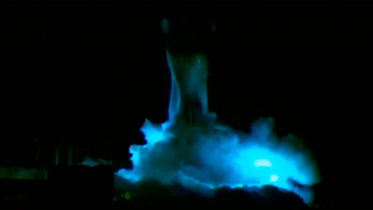 Взрыв Starship SN1