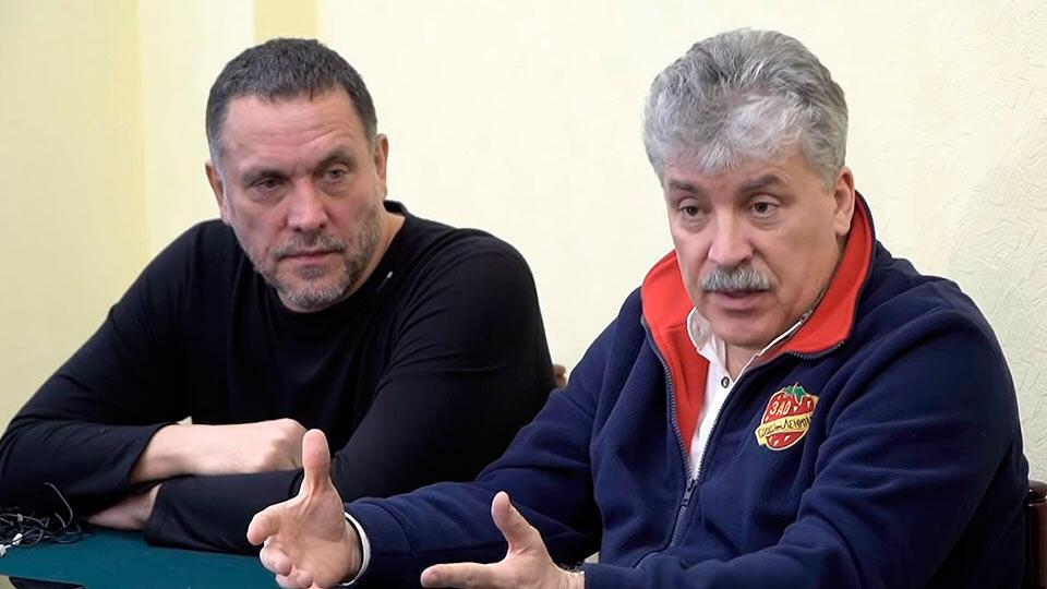Грудинин и Шевченко