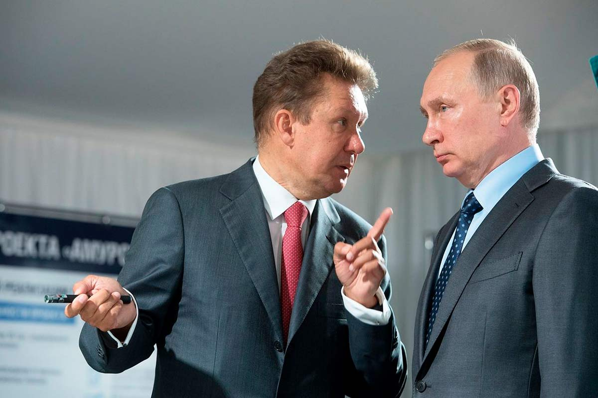 Путин посовещался с Миллером