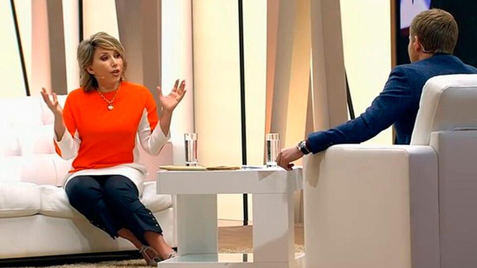 Елена Воробей с Борисом Корчевниковым