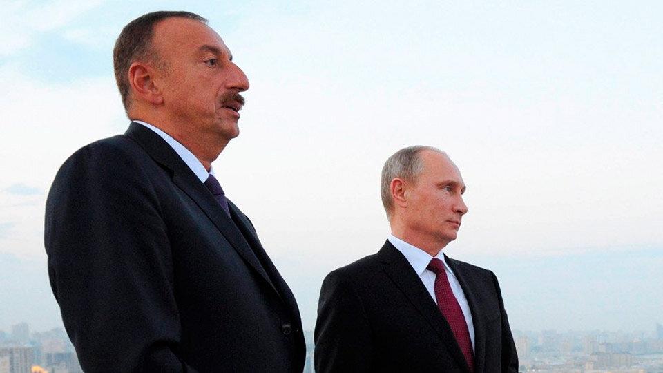 Эльхам Алиев и Путин