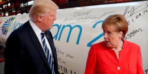 Меркель, во время горячего спора с Трампом поставила ультиматум из-за «Северного потока 2»