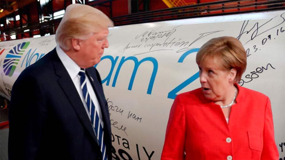 Разговор Меркель и Трампа про Северный поток-2
