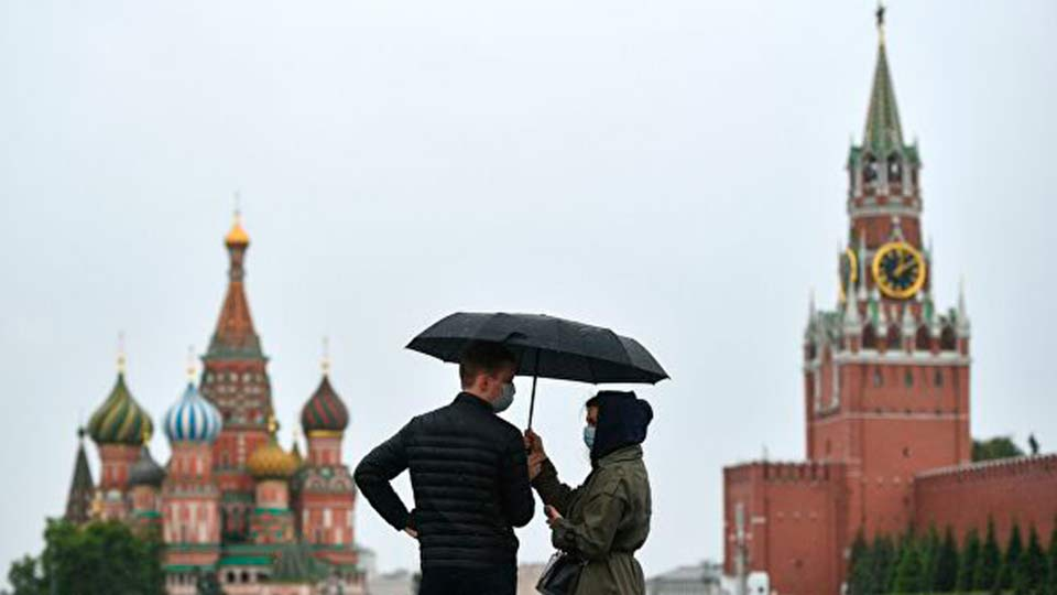 Москва под дождем