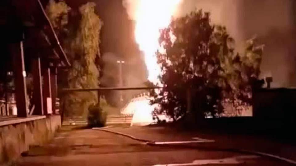 Взрыв на газохранилище в Казани
