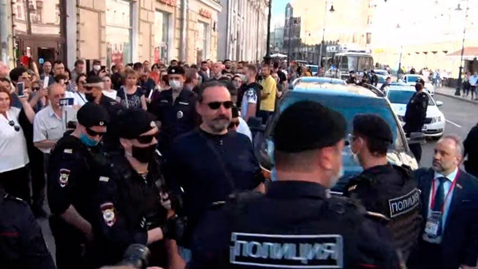Митинг в Москве 22 июня 2020
