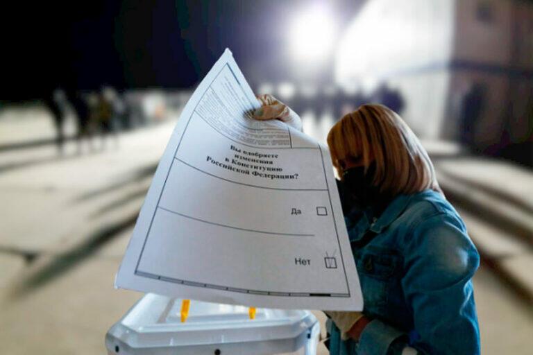 Ненецкий Автономный Округ проголосовал против поправок в Конституцию России, 54% выступило против и 45% за