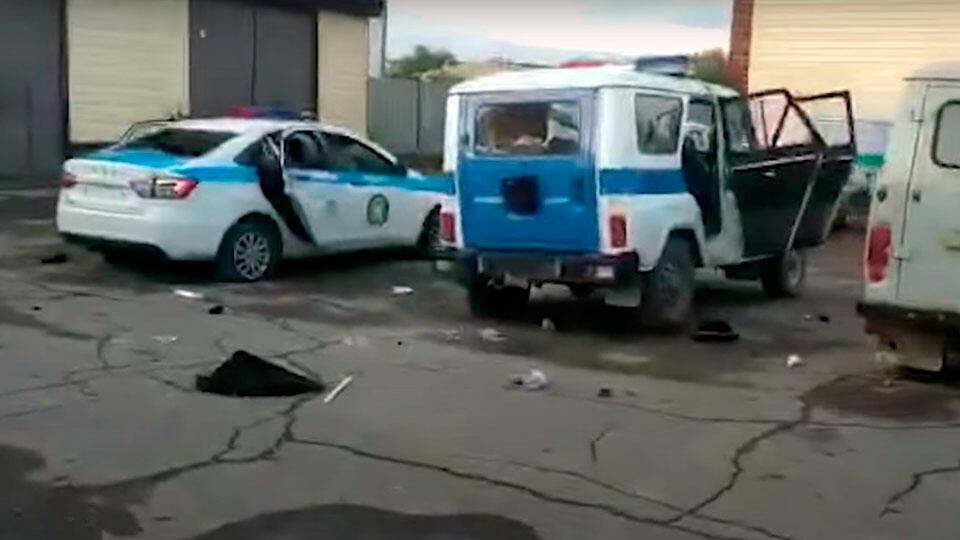 Нападение на полицейский участок в Казахстане