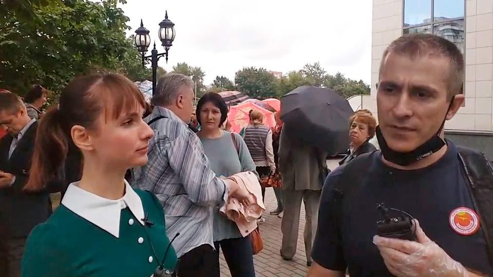 Сторонники Платошкина возле Мосгорсуда